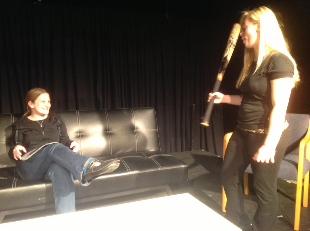 "Caitlin Hampton and Grace Salzer in ""In the Ductwork"""