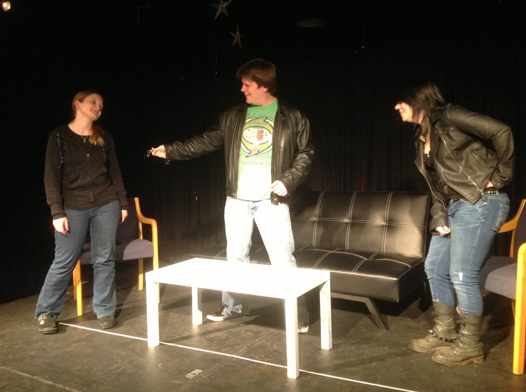 "Joey Masarick, Grace Salzer, and Janna Murr in ""Easy Credit"""