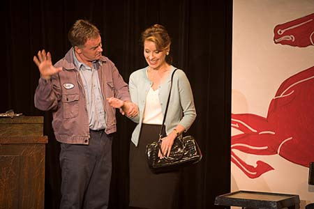 "Patrick Coyle and Helen Chorolec in Sam Post's ten minute play, ""Ignition Switch."" Minneapolis"