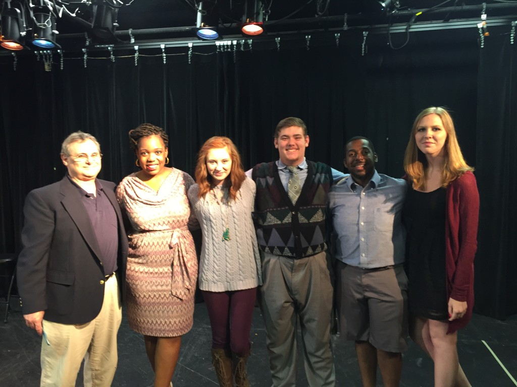 L-R. Sam Post, Markeita Cornelius, Pamela Mitchell, Matthew Holley, Nik Blocker, Holly Horton.